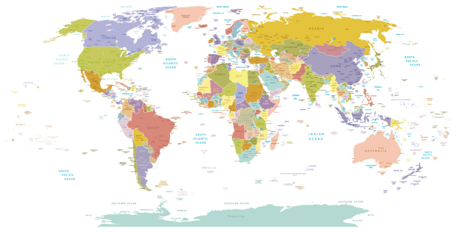 World Map - Training help people in Canada