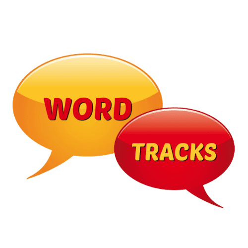 Word Tracks on White Savvy Cleaner Training