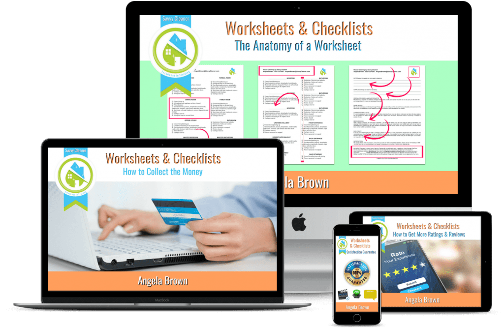 Worksheets & Checklists, Savvy Cleaner Training Course, Angela Brown