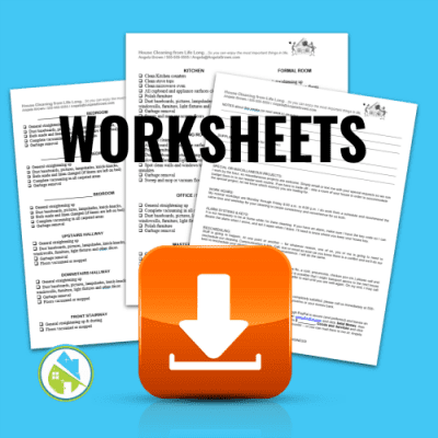 Worksheets, Savvy Cleaner Training