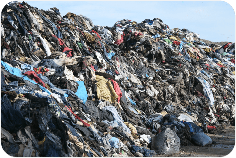 Landfill Disposing of Microfiber