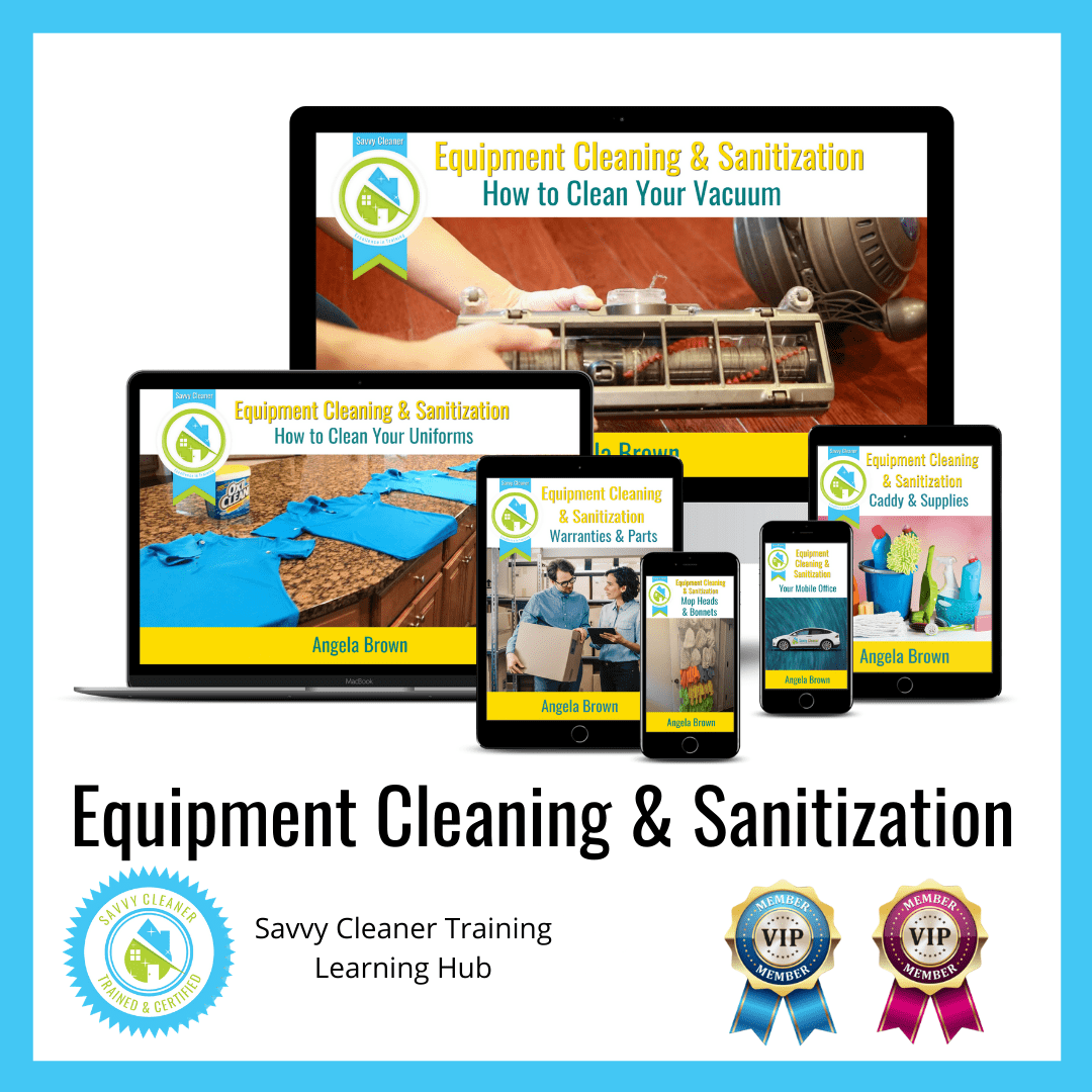 11 Equipment Cleaning & Sanitization, Savvy Cleaner Training Course 1080