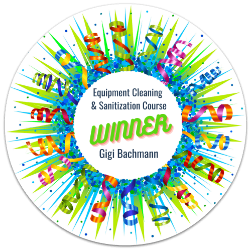 Gigi Bachman, Equipment Cleaning