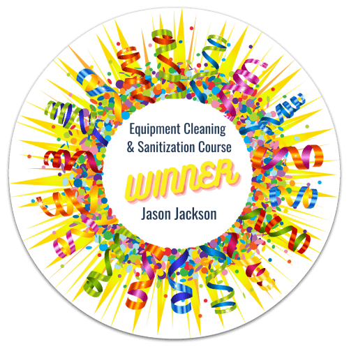 Jason Jackson, Equipment Cleaning Winner