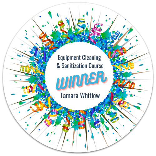 Tamara Whitlow, Equipment Cleaning