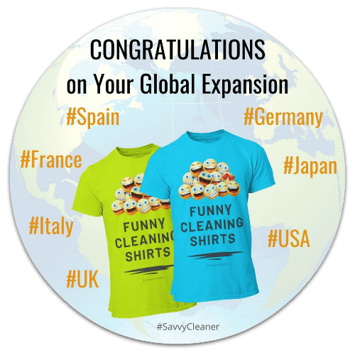 Funny Cleaning Shirts Goes Global