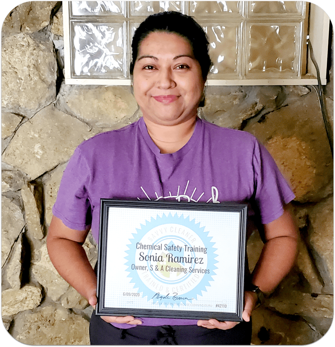 Member - Sonia Ramirez, S & A Cleaning Services Savvy Cleaner Training
