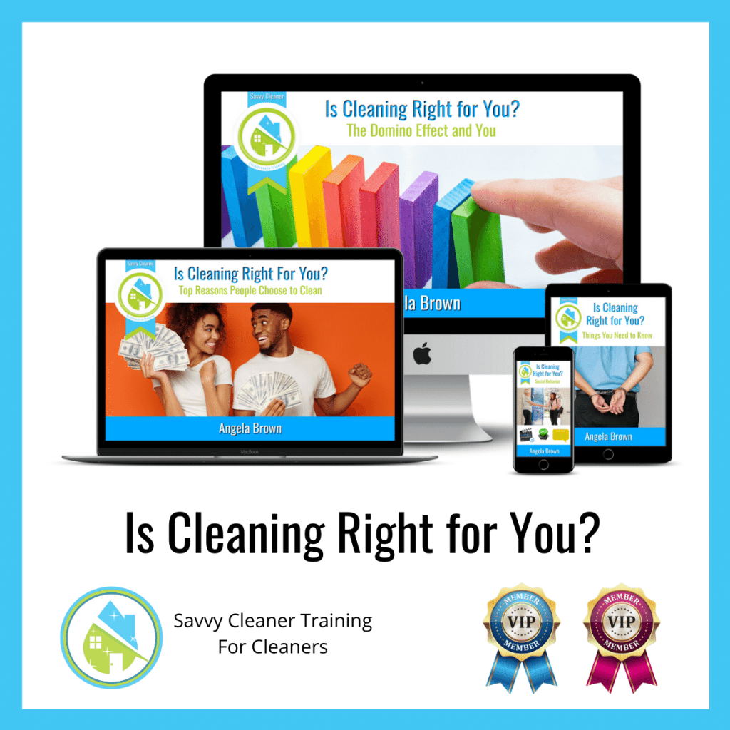01 Is Cleaning Right for You Savvy Cleaner Training Angela Brown