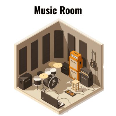 Bedrooms Music Room