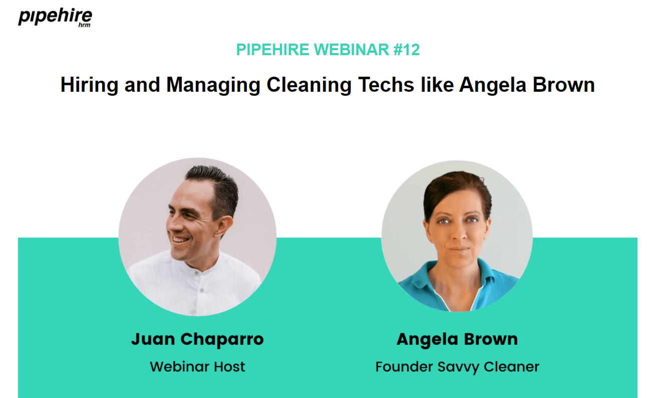 Hiring Webinar Angela Brown and Juan Chaparro