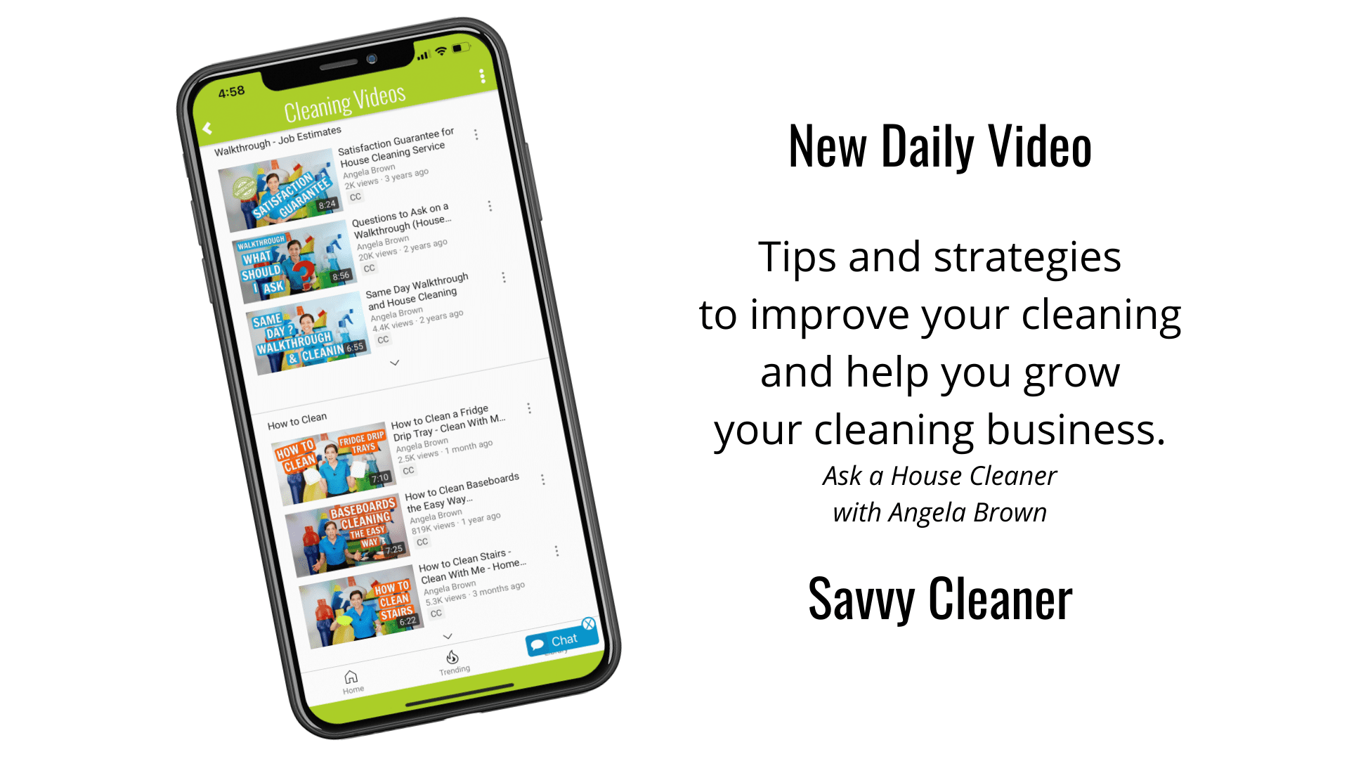 Daily Video with a Single Click Savvy Cleaner App for Smartphone