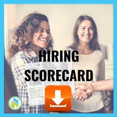 16 Hiring Scorecard Savvy Cleaner Training