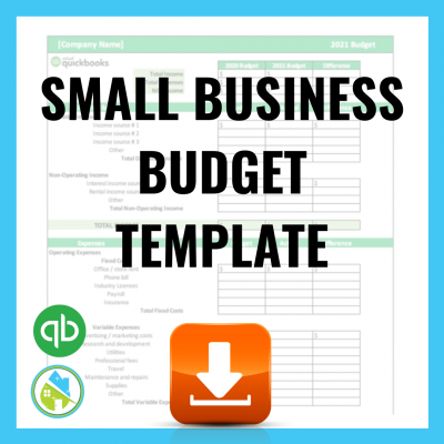 Small Business Budget Template - QuickBooks