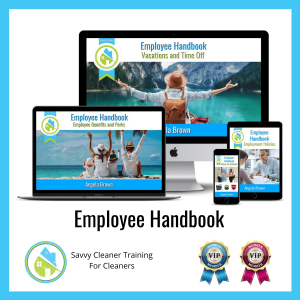 05 Employee Handbook Savvy Cleaner Training Angela Brown