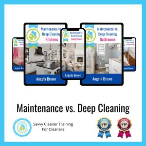 13 Maintenance vs. Deep Cleaning Savvy Cleaner Training Angela Brown