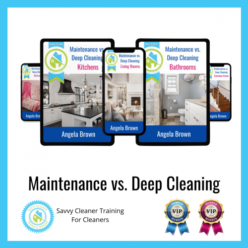 13 Maintenance vs. Deep Cleaning Savvy Cleaner Training Angela Brown