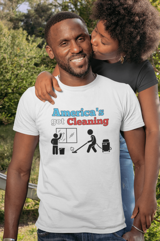 America's Got Cleaning Savvy Cleaner Funny Cleaning Shirts Premium Tee