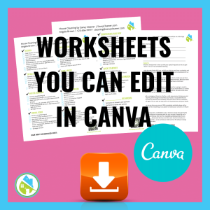 Angela Brown Worksheet You Can Edit in Canva