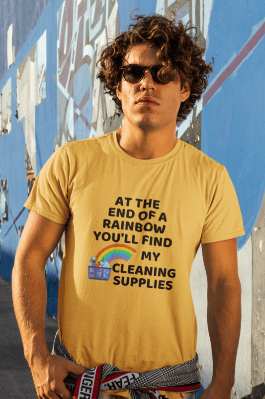 At The End Of The Rainbow Savvy Cleaner Funny Cleaning Shirts Premium Tee