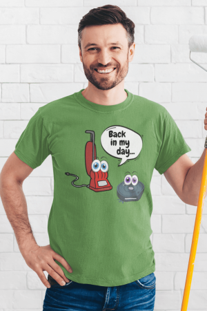 Back in My Day Savvy Cleaner Funny Cleaning Shirts Men's Standard Tee