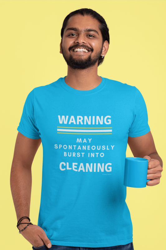 Burst Into Cleaning Savvy Cleaner Funny Cleaning Shirts Premium Tee