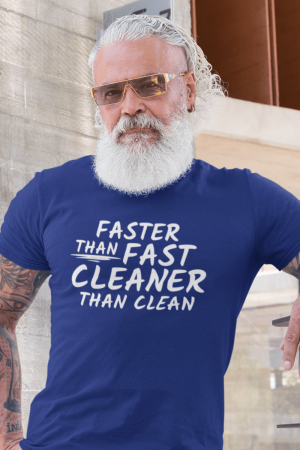 Cleaner Than Clean Savvy Cleaner Funny Cleaning Shirts Men's Standard T-Shirt