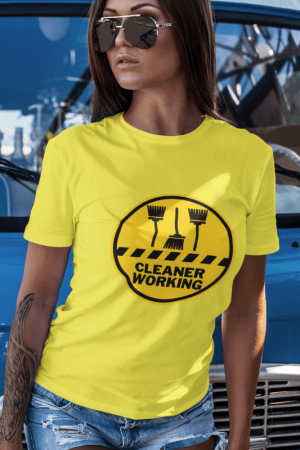 Cleaner Working Savvy Cleaner Funny Cleaning Shirts Women's Boyfriend T-Shirt