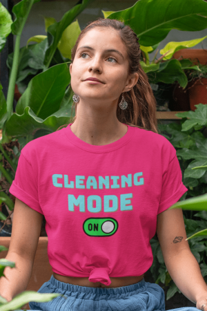 Cleaning Mode Savvy Cleaner Funny Cleaning Shirts, Women's Classic T-Shirt