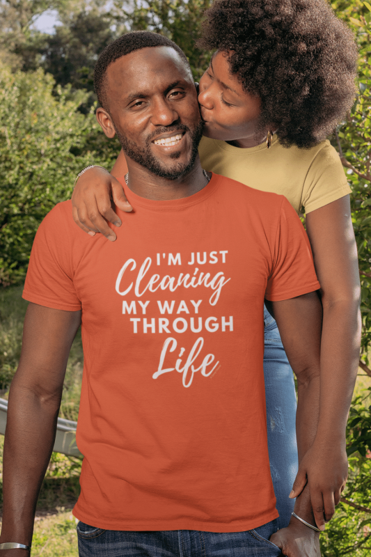 Cleaning My Way Through Life Savvy Cleaner Funny Cleaning Shirts Standard T-Shirt