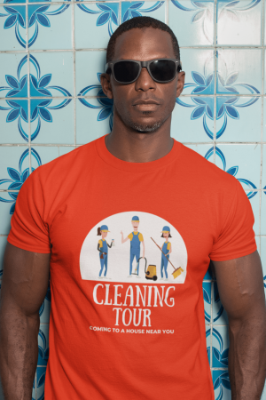 Cleaning Tour Savvy Cleaner Funny Cleaning Shirts Comfort T-Shirt