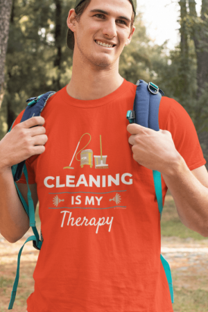 Cleaning is My Therapy Savvy Cleaner Funny Cleaning Shirts Comfort T-Shirt