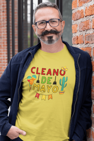 Cleano De Mayo Savvy Cleaner Funny Cleaning Shirts Men's Standard T-Shirt