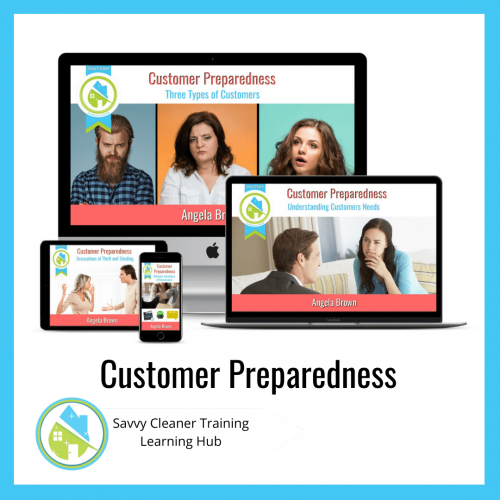 Customer Preparedness, Savvy Cleaner Training Course