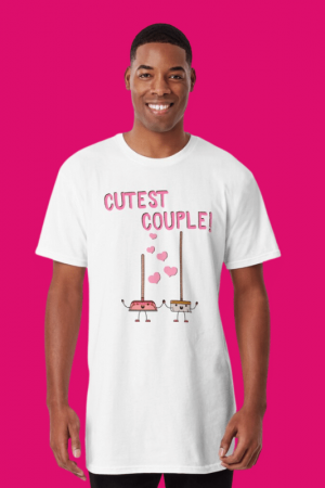 Cutest Couple Savvy Cleaner Funny Cleaning Shirts Long Tee