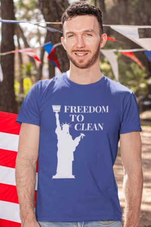 Freedom to Clean Savvy Cleaner Funny Cleaning Shirts Standard Tee