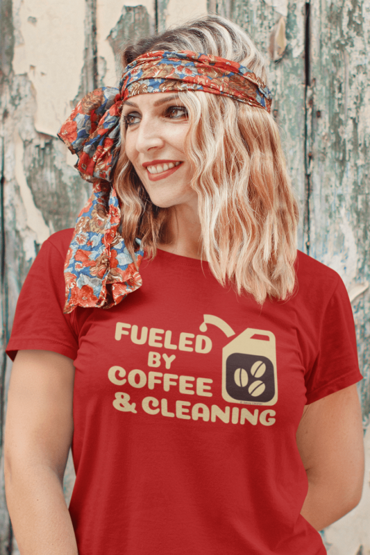 Fueled by Coffee Dark Savvy Cleaner Funny Cleaning Shirts Standard T-Shirt