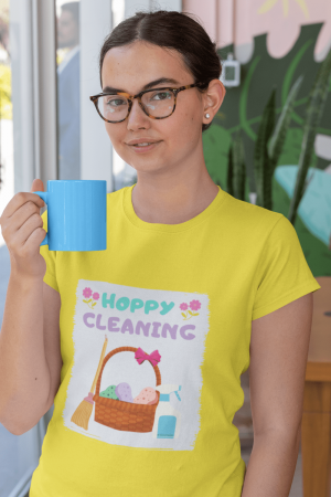 Hoppy Cleaning Savvy Cleaner Funny Cleaning Shirts Women's Boyfriend T-Shirt