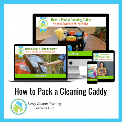 How to Pack a Cleaning Caddy, Savvy Cleaner Training Course