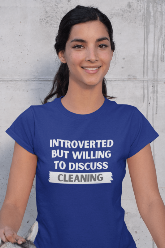 Introverted Savvy Cleaner Funny Cleaning Shirts Women's Standard T-Shirt