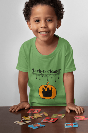 Jack-O-Cleaner Savvy Cleaner Funny Cleaning Shirts Kids Standard Tee