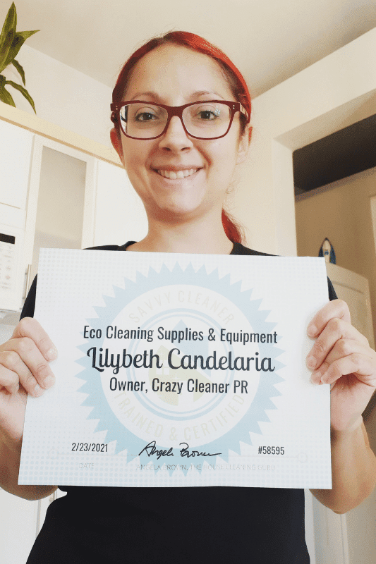 Lilybeth Candelaria Owner Crazy Cleaner PR Savvy Cleaner Training