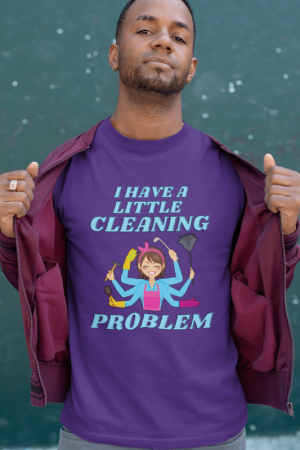 Little Cleaning Problem Savvy Cleaner Funny Cleaning Shirts Women's Premium T-Shirt