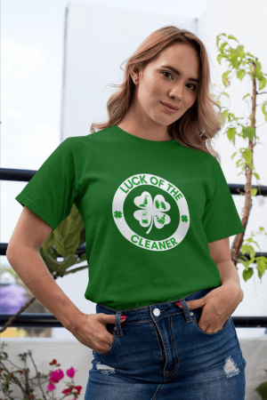 Luck of the Cleaner Savvy Cleaner Funny Cleaning Shirts Women's Classic T-Shirt