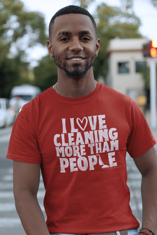 More Than People Savvy Cleaner Funny Cleaning Shirts Men's Standard T-Shirt