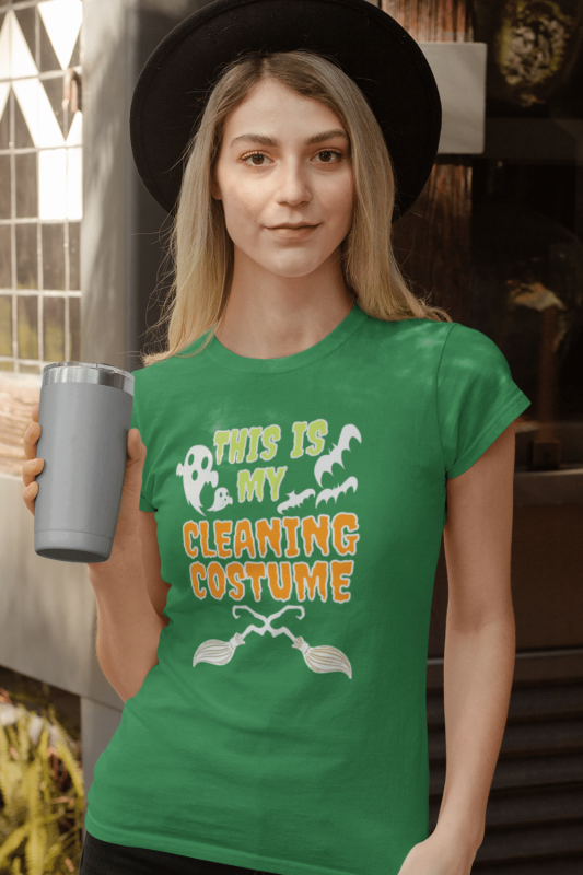 My Cleaning Costume Savvy Cleaner Funny Cleaning Shirts Women's Standard T-Shirt