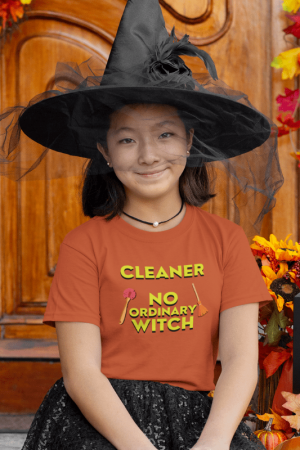 No Ordinary Witch, Savvy Cleaner Funny Cleaning Shirts, Kids Premium T-Shirt