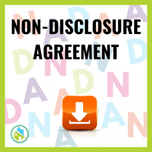 Non Disclosure Agreement Savvy Cleaner Training