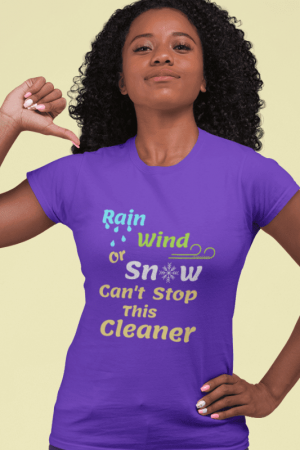 Rain Wind or Snow, Savvy Cleaner, Funny Cleaning Shirts, Women's Boyfriend T-Shirt