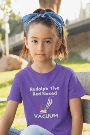 Rudolph the Red Nosed Vacuum, Savvy Cleaner Funny Cleaning Shirts, Classic Kids T-shirt