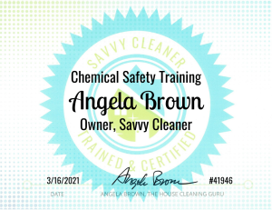 Savvy Cleaner Training Chemical Safety Training - Angela Brown